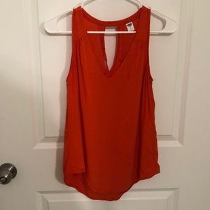 Old Navy orange tank with cut out back